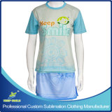 Custom Made Sublimation Girl's Lacrosse Sports Suit with Jersey and Boarder Skirt