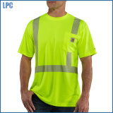 Quick Dry T Shrit with Reflentive Stripe for Promoter Uniform