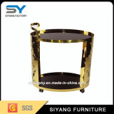 2017 New Design Gold Dining Trolley Dining Car for Hotel