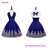 Ladies Royal Blue Sweetheart Neckline Empire Waist Short Evening Dress