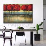 Colorful Abstract Tree Oil Paintings