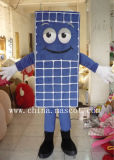 Blue Solar Plate Mascot Costume-Can Be Customized Your Product Model