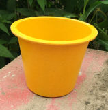 Assorted Colors Biodegradable Bamboo Fiber Flower Pots Garden Flower Pots (BC-FP1027)