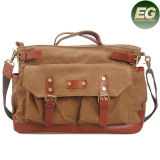 Hight Quality Canvas Hadnbags Crossbody Bag with Genuine Leather Ga07