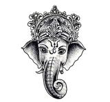 Fashionable Elephant Tattoo Stickers Art Tattoo Sticker