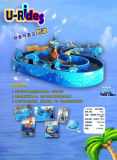 Amusement Marine Partrol Shark water Mini Flume Rides amusement machine