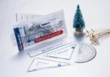 Haiwen 15cm Ruler Set Hw-R05 Perfect Ruler Set with PVC Zipper Bag