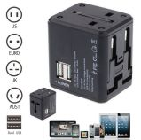 Universal Power Adapter Electric Converter Us/Au/UK/EU World USB Travel Plug