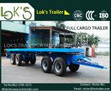 4axles Flatbed Full Cargo Trailer