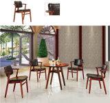 Living Room Furniture Wooden Base Leather Seat Barstool (UL-JT933)