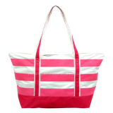 Customized Stripe Fabric Outdoor Leisure and Fashion Bag