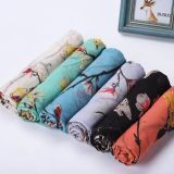 Nation Stylish Polyester Fashion Scarf with Sparrow Design (HP22)