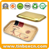 Rectangular Metal Plate Tin Trays for Gifts