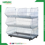 Supermarket Promotion Wire Stacking Baskets for Sale