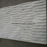 Chiseled Bianco Carrara White Marble Tiles for Wall Cladding Stone