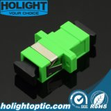Sc APC to Sc APC Fiber Adapter Sx Sm Green