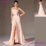 latest Collection One Shoulder Left Split Elegant Evening Dress
