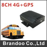 Low Cost 8 Channel 4G Mobile DVR, Used for Shuttle Bus, Police Car, Mini Train, School Bus, for Live Video Monitoring