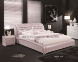 Bedroom Furniture Romantic Pink Leather Bed for Girls (J308)