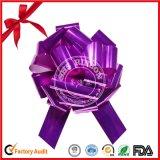 Cheap Price Dark Purple Weddings Decoration Ribbon POM POM Pull Car Bow