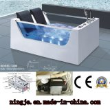 Ningjie Double Person Glass Acrylic Whirlpool Massage Tub (5406)
