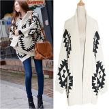 New Design Batwing Women Knit Cardigan Sweater (50215)