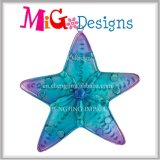 Coastal Ocean Starfish New Creative Metal and Glass Wall Decor