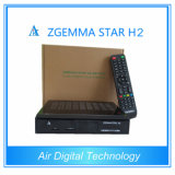 FTA Satellite Receiver Zgemma-Star H2 DVB-S2 with Hybrid DVB-C/T2 Tuner
