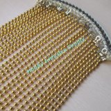 Decorative 6mm Noble Gold Color Metal Ball Chain Curtain