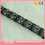 2 Row Rinestone Black Banding for Shoe Ornament