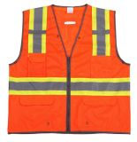 Reflective Vest with 4 Pockets, Meet En471