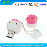 Cute Hello Kitty Shape Customize PVC USB Flash Drive (EP284)