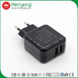 5V2a dual USB AC/DC Adaptor 10W USB Charger for EU Plug