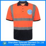 China Wholesale Workwear Men Fluo Orange Reflective Safety Polo Shirt