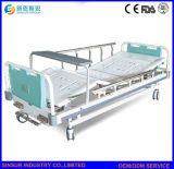 Medical Nursing Equipment Manual Double Function Adjustable Hospital Beds