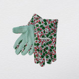 Economy Lady′s Garden Work Glove with Blue PVC Dotted Palm