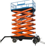 Small Customized Aerial Munual Hydraulic Mobile Scissor Lift Table