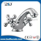 Two Cross Handle Factory Price Wall Mounted Basin Faucet Tap