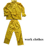 Good Quality Fluorescent Yellow Reflective Rain Suit