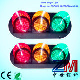 High Intensity Full Ball LED Flashing Traffic Light / Traffic Signal with Clear Lens
