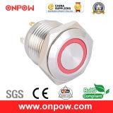 Onpow 16mm Illuminated Push Button Switch (GQ16F-10E/J/R/12V/S, CE, CCC, RoHS)