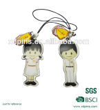 Customized Metal Couple Mobile Charm for Telephone