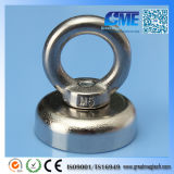 The Super N52 Neodymium Eyebolt Circular Rings Pot Magnet