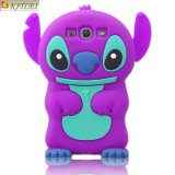 OEM Purple 3D Cute Cartoon Phone Accessories Movable Ear Cell Phone Case for Samsung Galaxy S6
