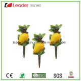 Mini Polyresin Mango Fruit Figurine Stakes for Home and Garden Decoration