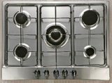 Top Grade 5 Burner Gas Hob and Hotplate Ceramic Top Gas Range