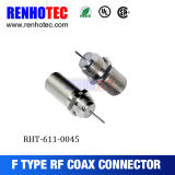 Straight F Type RF Connector Crimp Cable F Female Connector