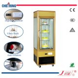 Single Door Metal Cold Showcase Refrigerator Glass Rotary Cake Display Showcase