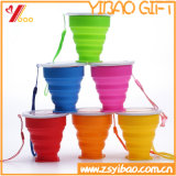 Amazon Hot Selling Candy Color Food Grade Silicone Foldable Cup for Travel (XY-SC-003)