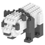 14889129-Micro Block Kit Animal Series Blocks Set Creative Educational DIY Toy 140PCS - Panda